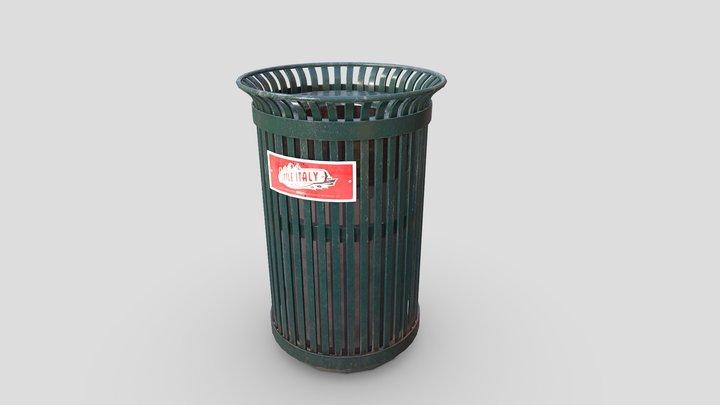 Green City Trash Can 3D Model