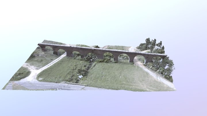 Aqueduc France (Low Definition) 3D Model