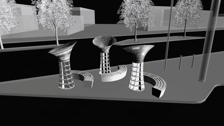 FOHDPL-CORNER LIBRARY 3D Model