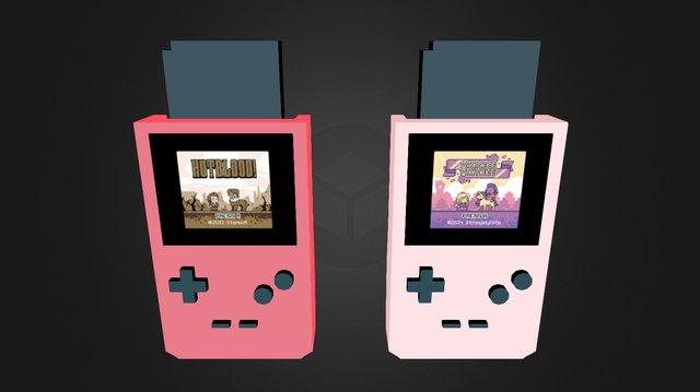 Game Boy Games 3D Model