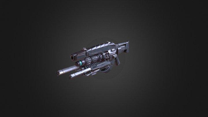 Science fiction gun 3D Model