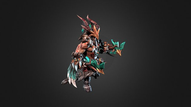 Dota 2 Workshop: Span of the August Rooster 3D Model