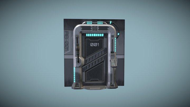 Sci-fi door panel 3D Model