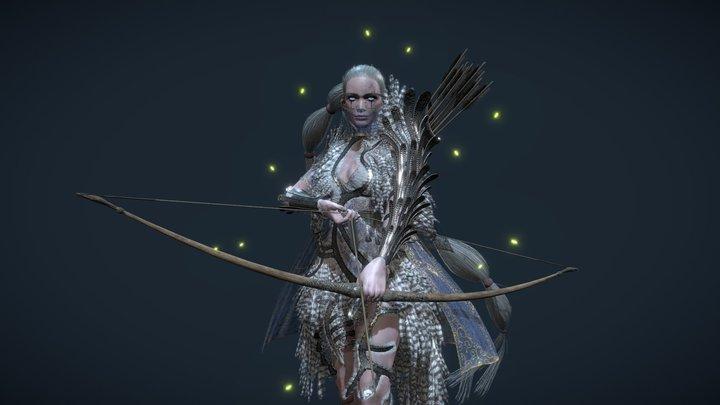 Silver Sentinel 3D Model