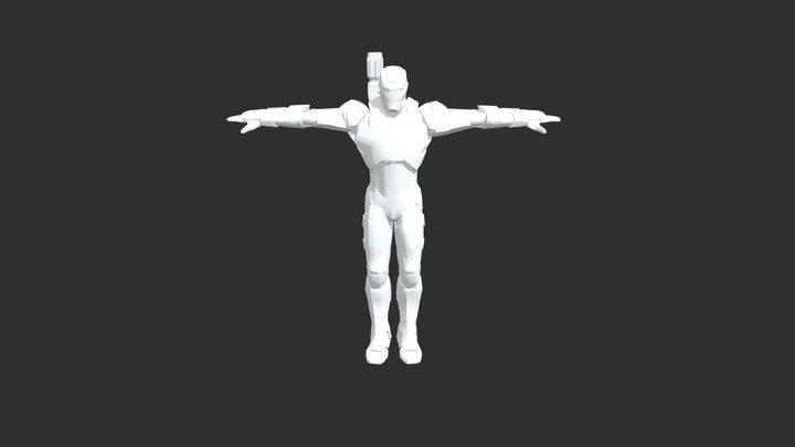 War Machine (Iron Patriot) 3D Model