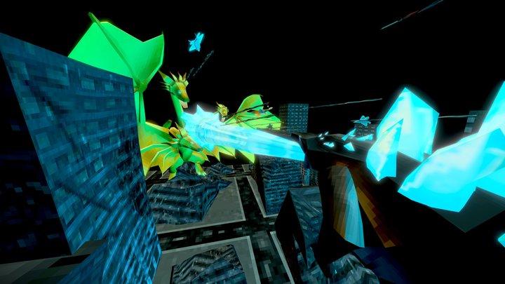 Godzilla Vs Ghidorah 3D Model