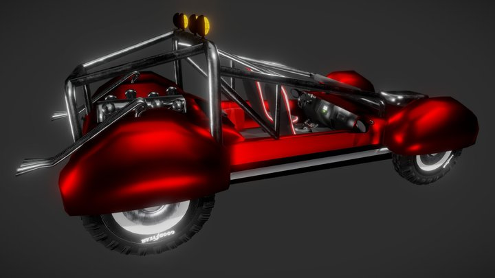 Dune buggy (Modelling Challenge) 3D Model