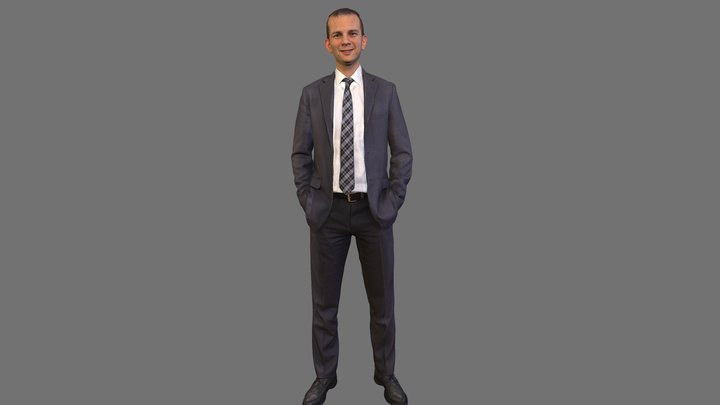 No4 - Suit Guy Standing 3D Model
