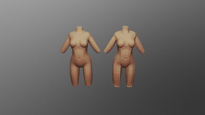 Female topology study [WIP] 3D Model