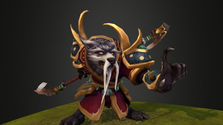 Wolf Chow Special Attack Animation 3D Model