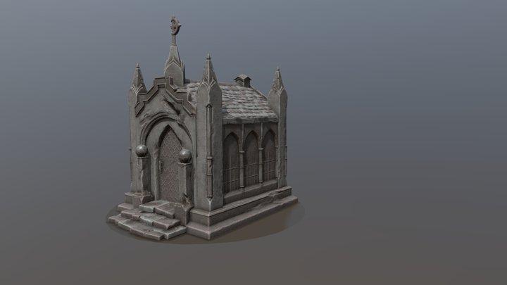 Night cemetery. Crypt 3D Model