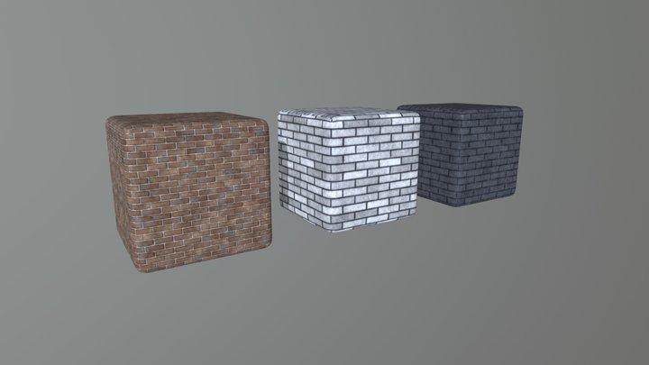 Bricks PBR texture set 3D Model