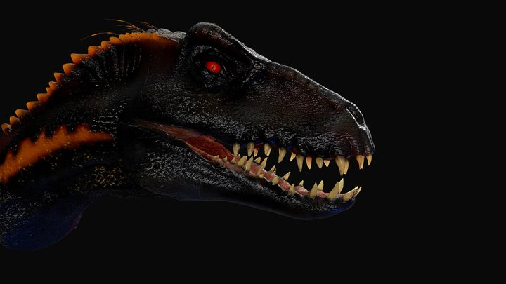 Indoraptor Head sculpt [Animated] 3D Model
