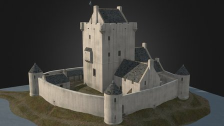 Lochore Castle reconstruction 3D Model