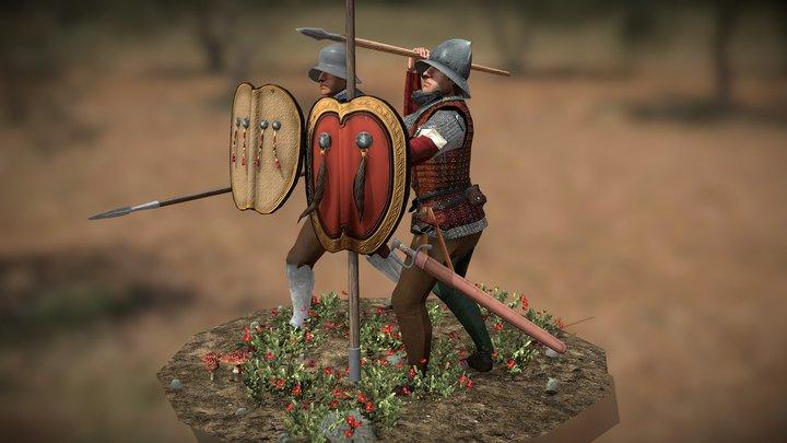 Aragonese Infantry 3D Model