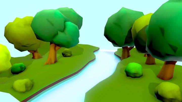 Vibrant Forest - 3December2019 - Tree 3D Model