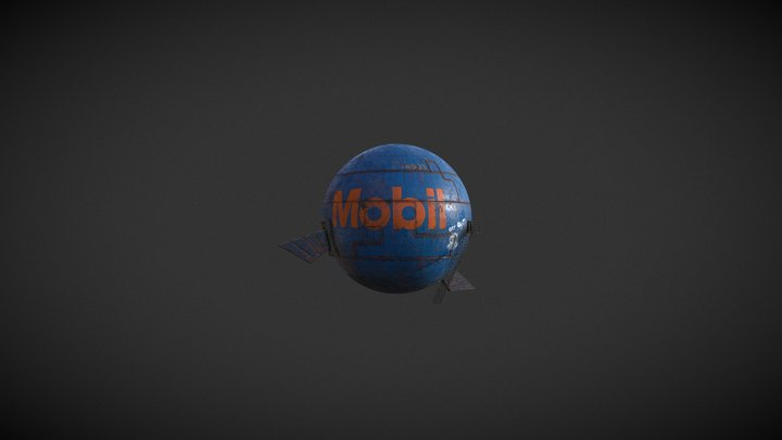 The Arcane Welder   Gas Tank   Blue 3D Model