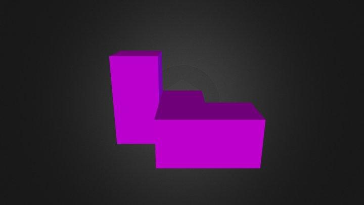 Purple Puzzle Piece 3D Model