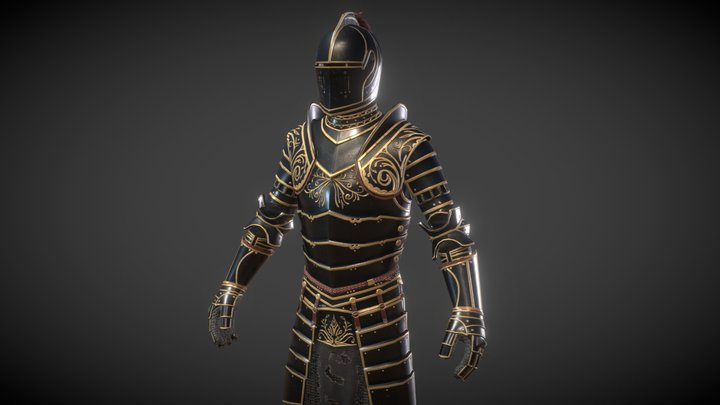 Ebony Armor Set - TES:Skyblivion 3D Model
