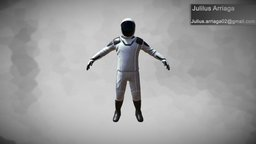 Space X Dragon Suit 3D Model