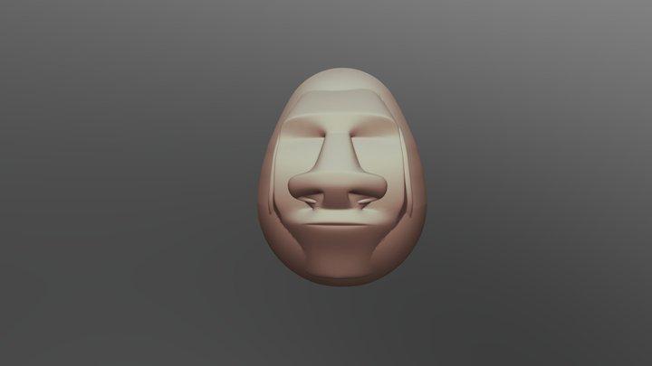 Oeuf Moai 3D Model