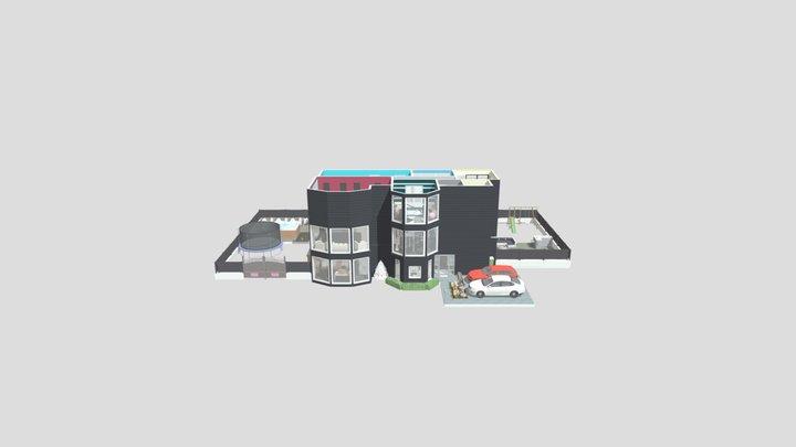 Suburban family house 3D Model