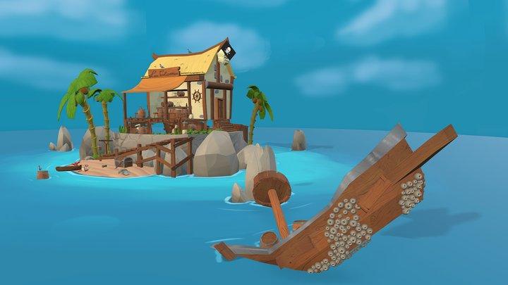 La paloma pirate bar 3D Model