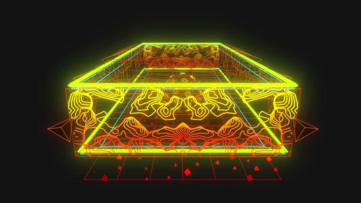 Arena Hologram Sculpture /// 3D Model