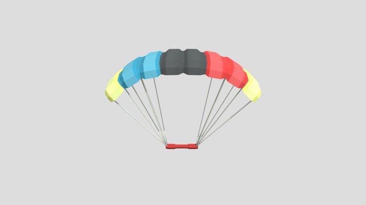 Parachute - Low Poly 3D Model