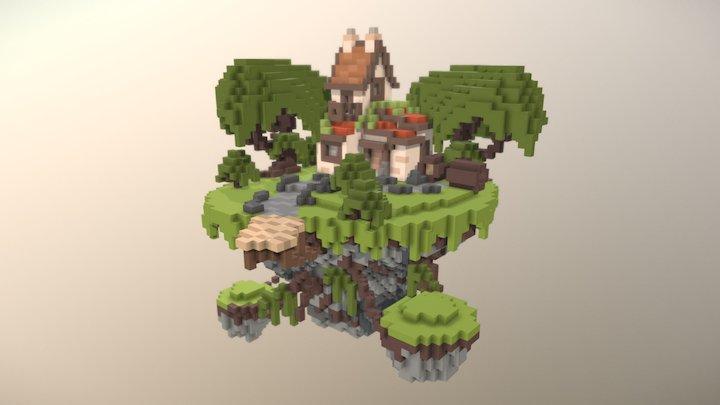 Floating House 3D Model