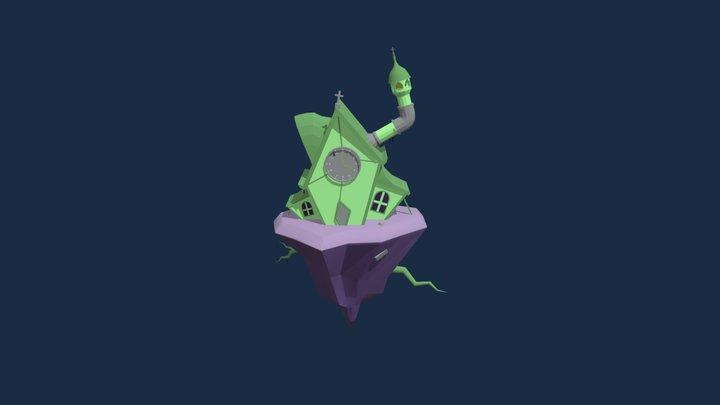 Spooky Church 3D Model