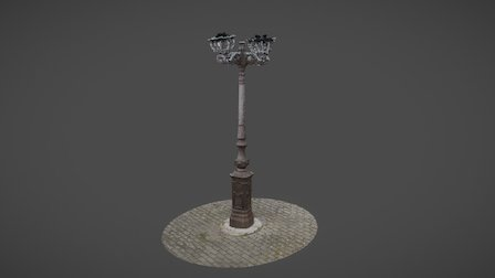Farola 1878 - Rueda 3D Model