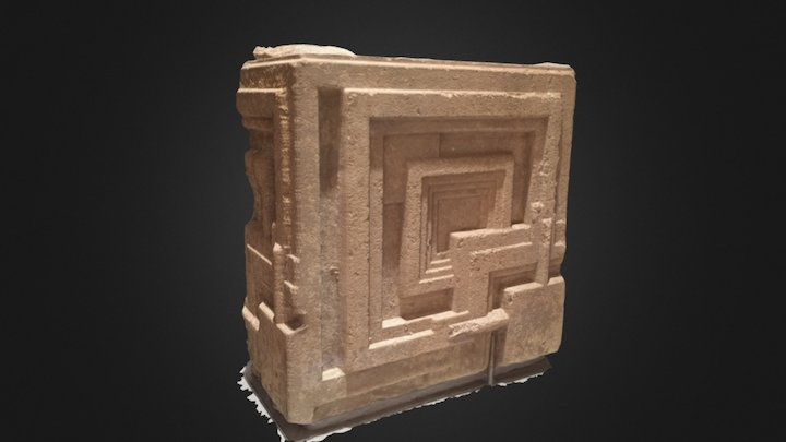 Ennis House Block 3D Model