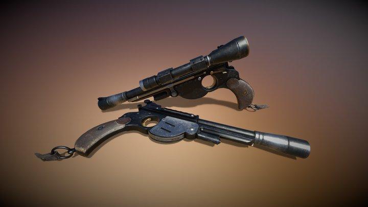 The Mandalorian's Blaster 3D Model