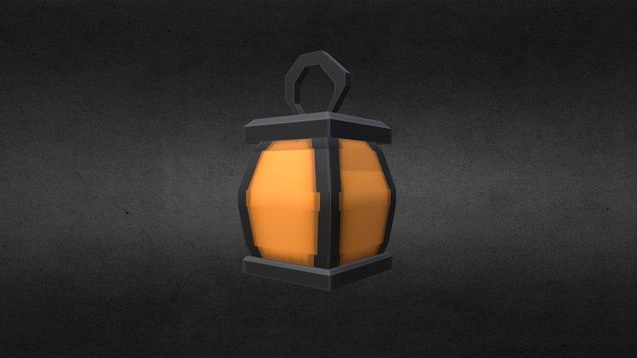 Low-Poly Lantern (Spooky Model Series, 1/6) 3D Model