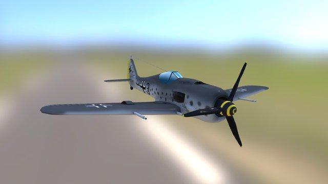 Focke-wulf Fw 190 A-8R 3D Model