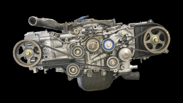 Subaru Outback Engine Long Block 3D Model