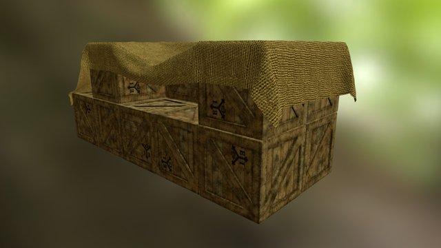 The Forest Exchange - Crates w. Burlap 3D Model