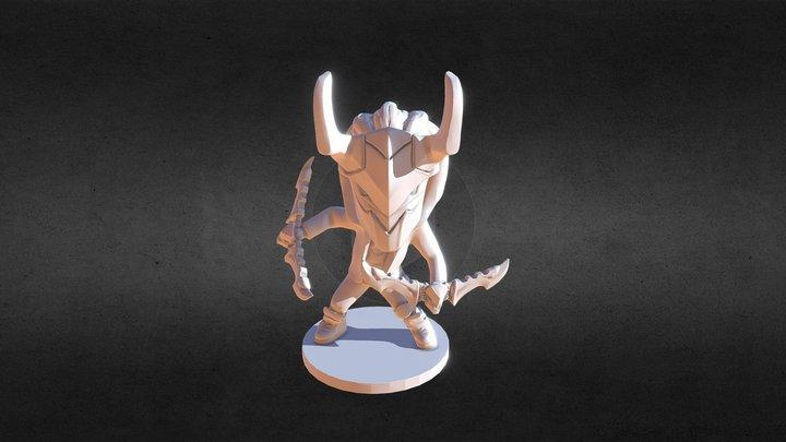 Nakroth chibi style - 3D Game model 3D Model