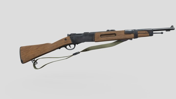 Old Rifle 3D Model