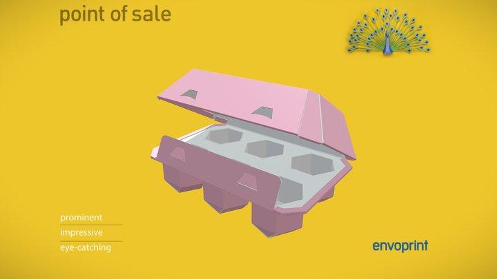 Pink Egg Box 3D Model