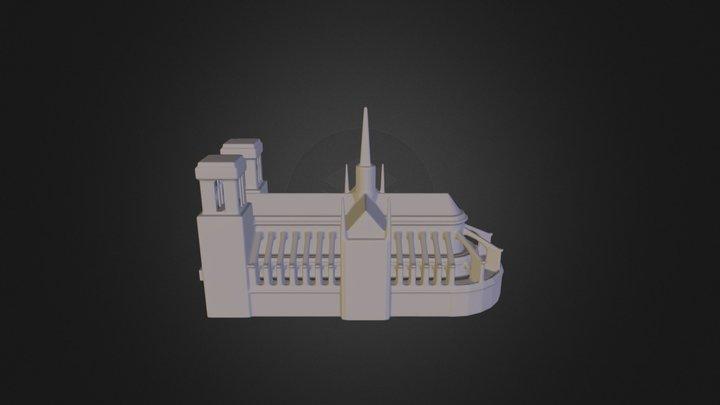 Notredameparis 3D Model