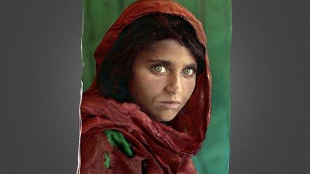 """"""" Afghan girl """" low 3D Model"""
