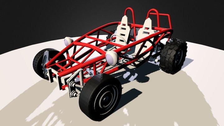 Mud Cars - Ariel Atom VW Beetle 3D Model