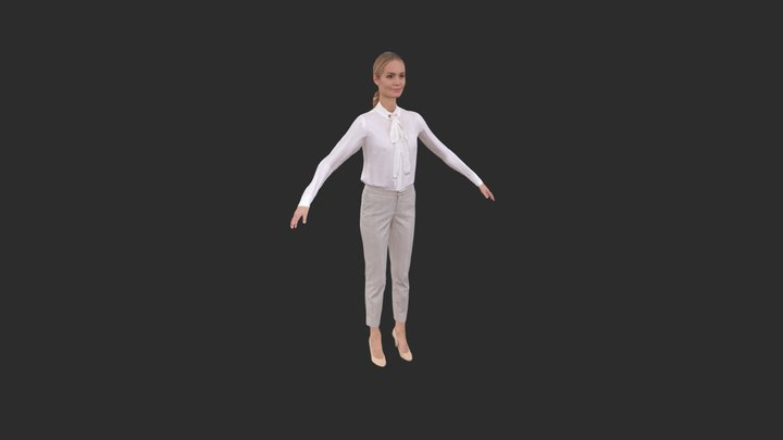 Claudia Rigged 002 - 3D Rigged Business Women 3D Model