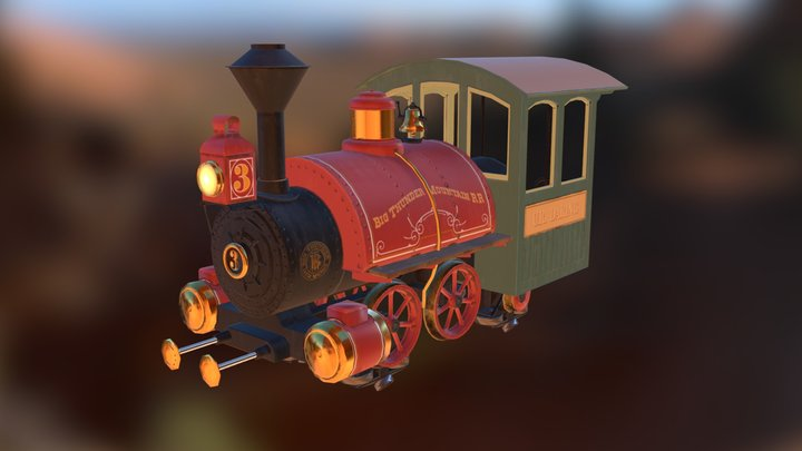 Big Thunder Mountain Railroad 3D Model