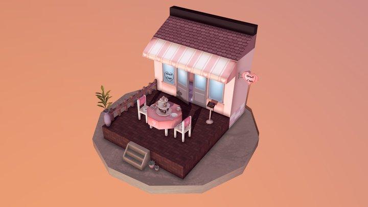 Heart Cafe - Diorama 3D Model