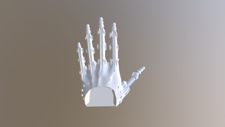 Internal Mold for Prosthetic Hand Silicone Skin 3D Model