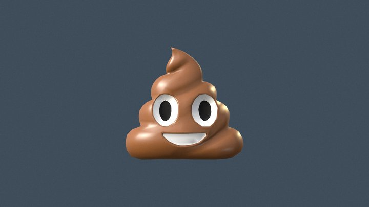 💩 Pile Of Poo emoji (Low poly) 3D Model