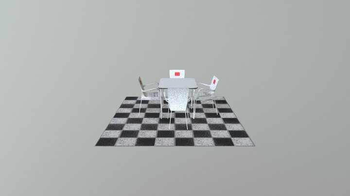 ExterorChairs&table 3D Model